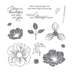 Florale Freude Clear Stamp and Dies for Scrapbooking Card Album Making Metal Cutting Dies and Stamps Sets