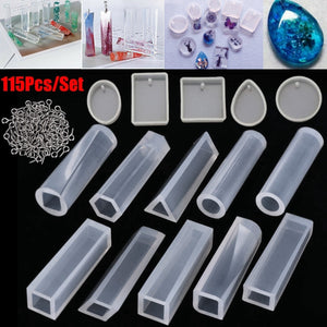 Multiple Choices Resin Casting Molds Kit Silicone Mold Jewelry Pendant Mould Craft DIY Tools Set
