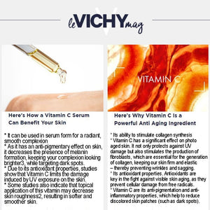 LIFTACTIV VITAMIN C SERUM with a High Concentration of 15% Pure Vitamin C Serum + Natural Origin Hyaluronic Acid for Brighter complexion, Smoothing skin texture and Reducing fine lines