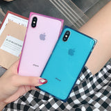 4 Gasbag Drop-Proof Soft Case for iphone xs MAX XR X 10 7 8 Plus 6 6s Clear TPU Silicone Candy Anti Knock Phone Cover