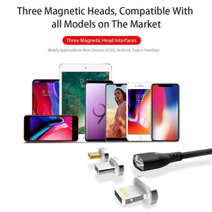 5A Magnetic Cable Micro Usb Type C Super Fast Charging Phone Microusb Type-C Magnet Charger Usb C for Iphone Huawei Xiaomi