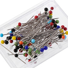 将图片加载到图库查看器,100PCS 32mm DIY Knitting Garment Accessory Apparel Glass Head Pins Glass Head Bead Sewing Needles Locating Pin