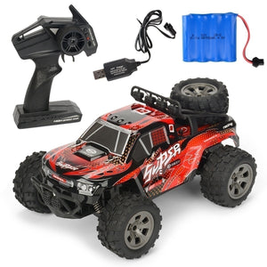 New Carlos De Control Remoto 1:18 4WD Wireless Remote Control Car High Speed 2.4ghz Remote Control Car Truck Electric Truck Off-road Vehicle RC Off-road Vehicle Charging Remote Control Car (25km / H 60km / H)