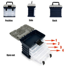 将图片加载到图库查看器,Big Fishing Tackle Box Portable 4 Layers Fishing Box Sea Boat Fishing Accessory Box Case With Handle Utility Box