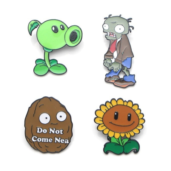 L1385 Plants Vs. Zombies Metal Brooches and Pins Enamel Pin for Backpack/Bag/Clothes Badge Brooch T-shirt Collar Jewelry 1pcs