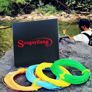 100FT Weight Forward Floating Fly Fishing Lines Orange Green Yellow Green