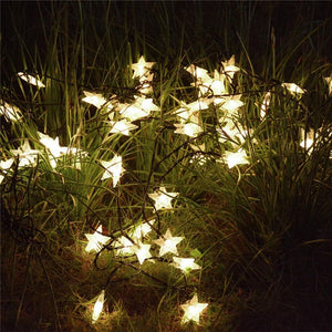 20ft 30 LED Solar String Lights Solar Powered Star Fairy Lights Outdoor Waterproof Lights String Landscape for Garden Patio Yard Home Party Decoration