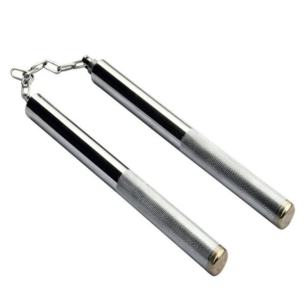 Man Training Kung Fu Nunchakus Martial Arts Safety Nunchakus Double Truncheon with Stainless Steel Chain