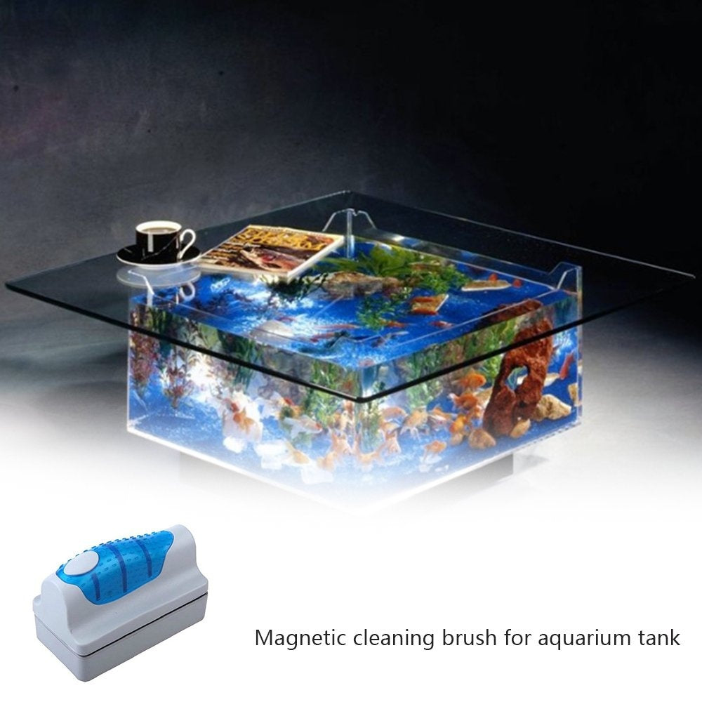 Mini Aquarium Magnetic Brush Glass Algae Scraper Cleaner PA