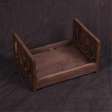 将图片加载到图库查看器,4 Colors Photography Prop Cot Baby Photo Bed S Newborn Photographic Wooden Bed