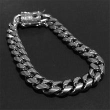 将图片加载到图库查看器,Lovemeto 925 Silver Stainless Steel Chain Iced Out Diamond Thick Miami Cuban Link Chain Necklace or Bracelet Hip Hop Jewelry
