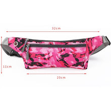 将图片加载到图库查看器,Camouflage Waterproof Zip Bag Running Belt Bum Waist Pouch Pack Camping Sport Hiking