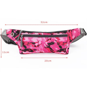 Camouflage Waterproof Zip Bag Running Belt Bum Waist Pouch Pack Camping Sport Hiking