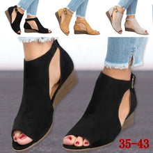 将图片加载到图库查看器,Spring Leisure Leather Shoes Fashion Classic Sandals with plus Size Shoes