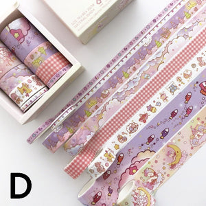 8 pcs/pack Bullet Journal Washi Tape Set Adhesive Tape DIY Scrapbooking Sticker Label Masking