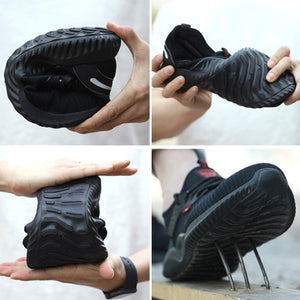 2019 The New Steel Toe Shoes Kevlar Fiber Safety Shoes Breathable Steel Toe Work Shoes for Men Plus Size:35-48