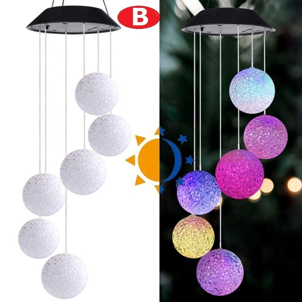 Solar LED Color Changing Wind Chime Light Spinner Hanging Spiral String Light Home Garden Patio D¨¦cor Gift(3 Styles)