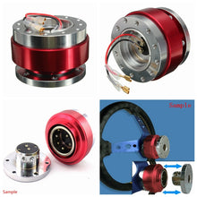 将图片加载到图库查看器,Auto Car Universal Aluminum Steering Wheel Quick Release Hub Adapter Boss Kit Snap Off Steering Wheel