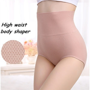 Women's Fashion High Slimming Shaping Panty Waist Trainer Breathable Underwear Pure Cotton Mention Hip Underpants