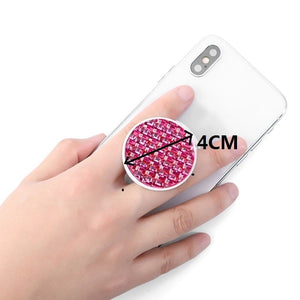 1Pcs Crystal Diamond Mobile Phone Holder Round Finger Ring Bracket Extensible Phone Stand Mount
