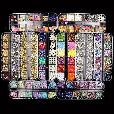 Mixed Nail Ornaments Sequin Nail Ornament Box-packed Preferential Kit 10 Style