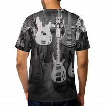 将图片加载到图库查看器,Newest Fashion Mens/Womens Music Bass Guitar DJ Funny 3D Print Casual T-Shirt