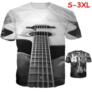 Newest Fashion Mens/Womens Music Bass Guitar DJ Funny 3D Print Casual T-Shirt