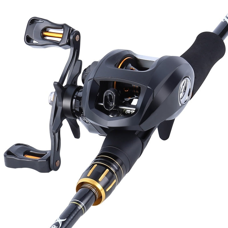 Sougayilang 2.1m/2.4M Casting Fishing Rod Reel Combos with 4 Section Baitcaster Rod and 13BB Casting Reel