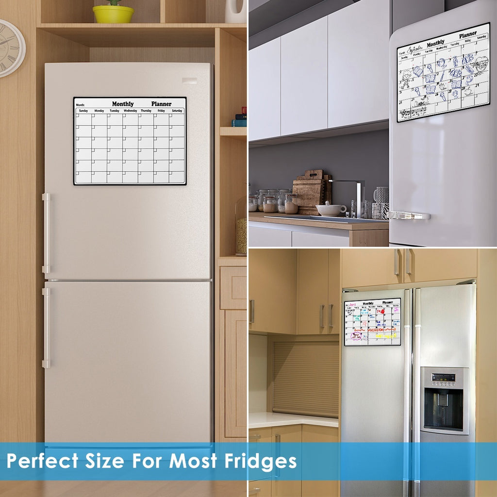 Magnetic Dry Erase Calendar for Fridge White Board Monthly Planner for Kitchen Refrigerator Erasable Calendar