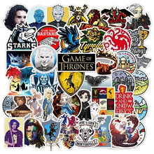 将图片加载到图库查看器,25pcs-50pcs Game of Thrones Cartoon Sticker Doodle Skateboard Laptop Luggage PVC Waterproof Sticker