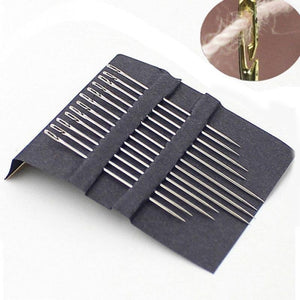 36pcs Sewing Needles Multi-size Side Opening Stainless Steel Darning Sewing Household Hand DIY Embroidery Tools