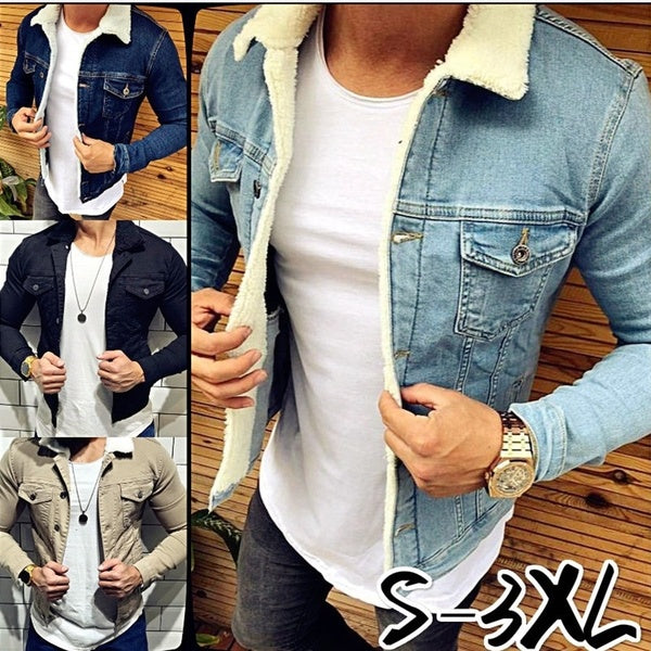 New Fashion Men's Classic Jeans Jackets Casual Washed Denim Coat Outerwear Stylish Plus Size S-3X