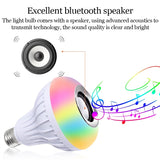 Music Lamp E27 Bluetooth LED RGB Color Stereo Audio Speaker Bulb Music Lamp with Remote Controller