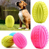 Fashion Pet Toy Bite-resistant Vocal Toy Ball Large Dog Golden Hair Barbed TPR Dog Toy Clean Teeth Molar Tooth Dog Toy