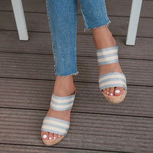 将图片加载到图库查看器,New Womens Wedge Sandals Ladies Open Toes Sandals Shoes Summer Casual Street Style Wedge Shoes for beach