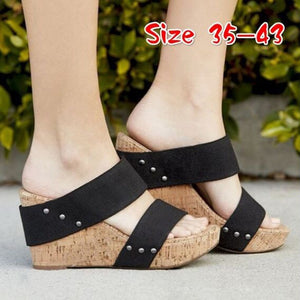 New Womens Wedge Sandals Ladies Open Toes Sandals Shoes Summer Casual Street Style Wedge Shoes for beach