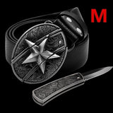 New Fashion Leather Belts for Men Accessories High Quality Luxury for Man Field Survival Belt To Hide A Knife