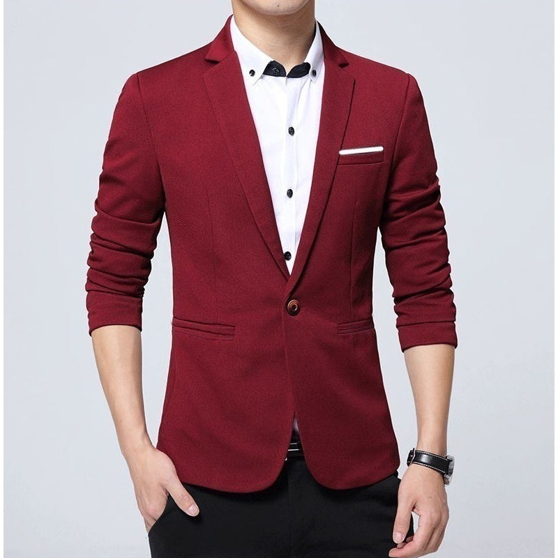 2019 Spring Fashion Men's Business Casual Wedding Suit