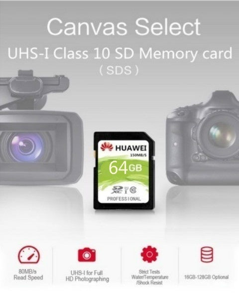 2019 SD Memory Card 64GB Canvas Selet SDHC/SDXC UHS-1 80MB/S Class 10 HD video Flash SDCard for Digital Camera