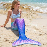 7 Colors Women Kids Girls Mermaid Tail Swimwear Colorful Bikini Swim Fun 1PC(no Monofin)