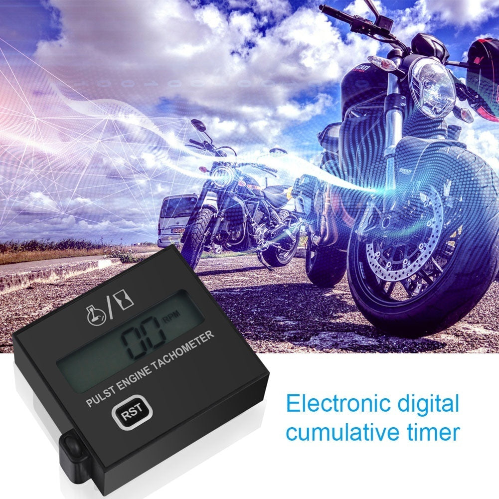 Chainsaw tachometer gasoline engine mower high speed digital display induction pulse speedometer