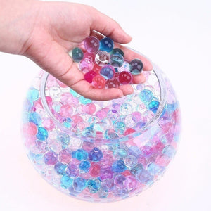 20000-40000PCS Crystal Soil Water Beads Pearl Shaped Mud Grow Magic Grow Jelly Balls Home Decor Children Toy Ball