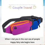 Fashion Couple Models Outdoor Sports Multi-function Waterproof Pockets Cashiers Mobile Phone Bag Messenger Chest Bag