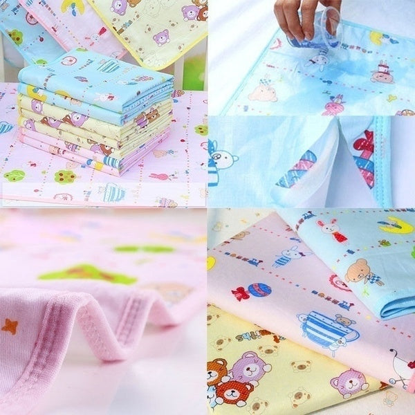 Fashion Reusable Baby Infant Waterproof Urine Mat Cover Burp Changing Pad
