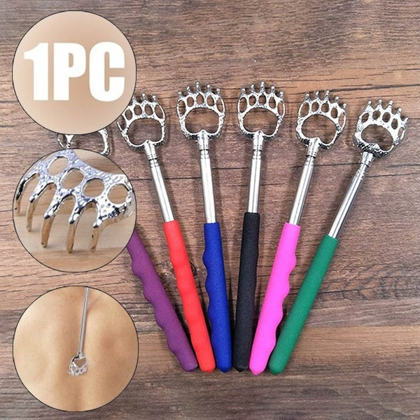 Cute Bear Claw Stainless  Creative Back Claw Back Scratcher Telescopic Back Scratcher Device