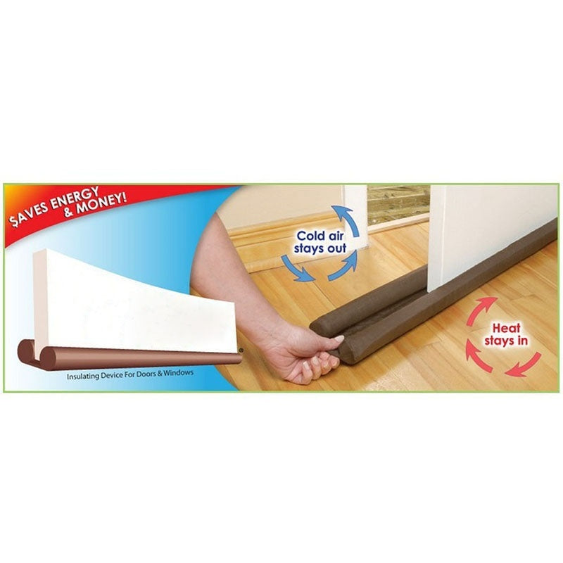90 cm Door Window Twin Draft Guard Dust Resisted Sash Stopper Energy Saving
