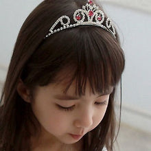 将图片加载到图库查看器,Cute Lively Baby Girls Crown Princess Hair Ribbon Hardback Pretty Bridal Hair Clasp