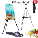 New Artist Aluminium Allo/Iron Folding Easel Light Weight And Carry Bag