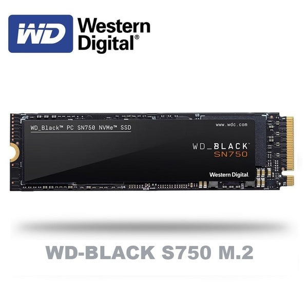 Western Digital WD BLACK SN750  SSD 250GB 500GB 1TB M.2 2280 NVMe PCIe Gen3*4 Internal Solid State Drive For PC Laptop NoteBook