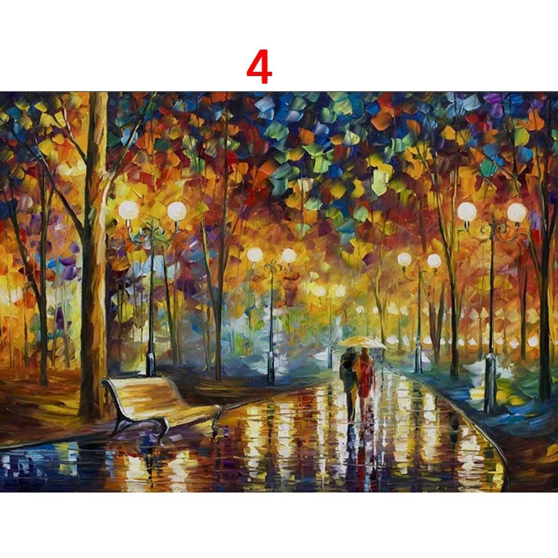 Wooden Puzzle Adult Kids Games 1000 Pieces Jigsaw Puzzles Landscape Picture Assembling Educational Toys